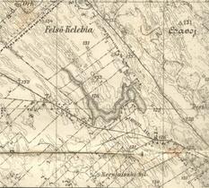 1894  -1927-1936 Suboataica Meljkut vojna karta levi deo 3-2-2-41 723x565