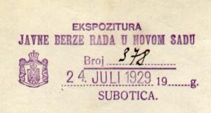 PECAT iz 1929 F47 XV 220 1928