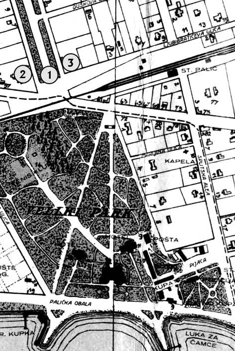 Predvidjena mjesta na karti 1928 manja slika