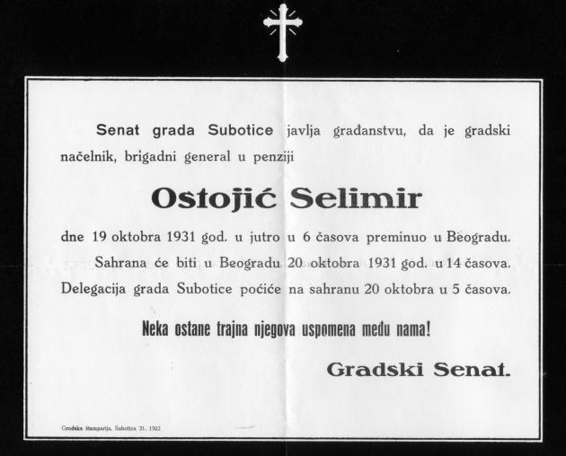 Selimir posmrt IV 450 1932