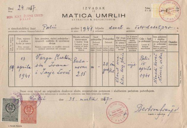 Umrlica Martin Varga