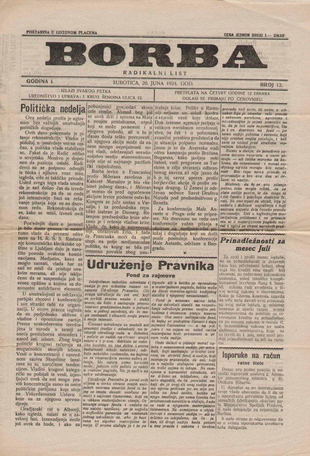 BORBA 20 06 1924