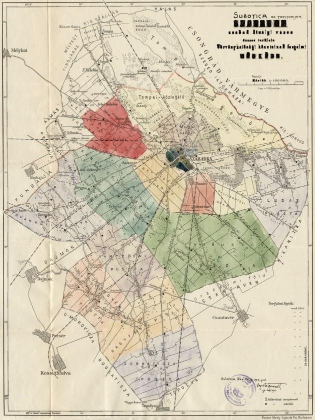 Subotica sa teritorijem 1923 a4