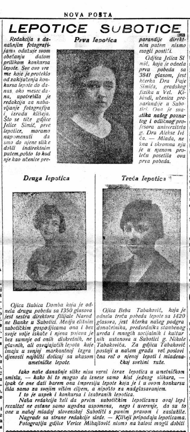 Nova Posta, 2,  LEPOTIC 23 mart 1923