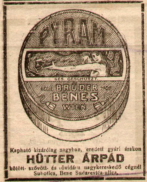F 86 195 reklama Szabadkai ujsag 19 02 1922