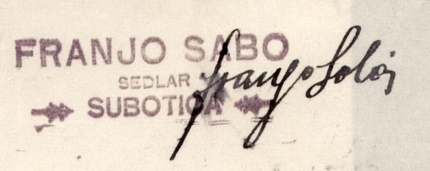 F 47 III 722 1925 Sedlar Franjo Sabp