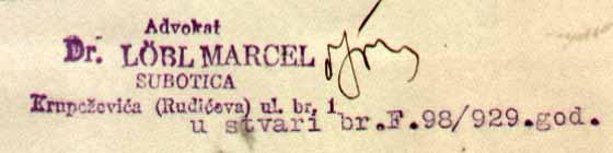 F 86 245 Ce VII 121 Marcel Lebl adv